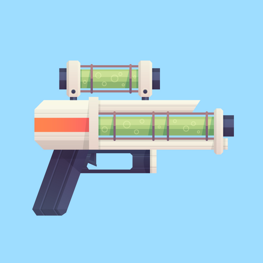 Our Flat Sci-Fi Blaster is Finished