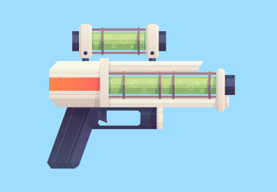 34 sci fi flat blaster weapon400