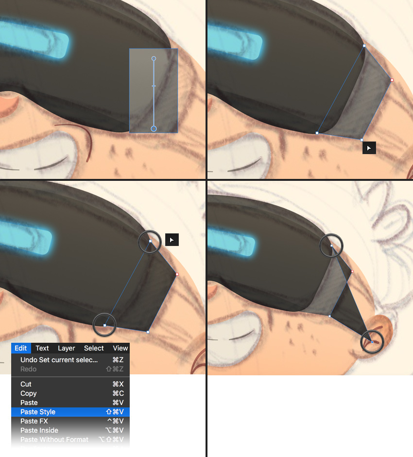 make the side strap of the VR