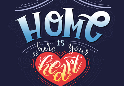 42 home lettering poster photoshop400