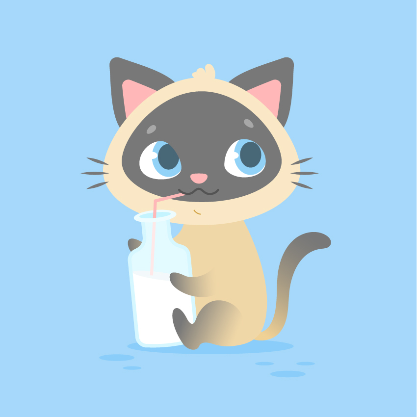 Cute Character Design Illustrator : How to create a cute cartoon kitten in adobe illustrator
