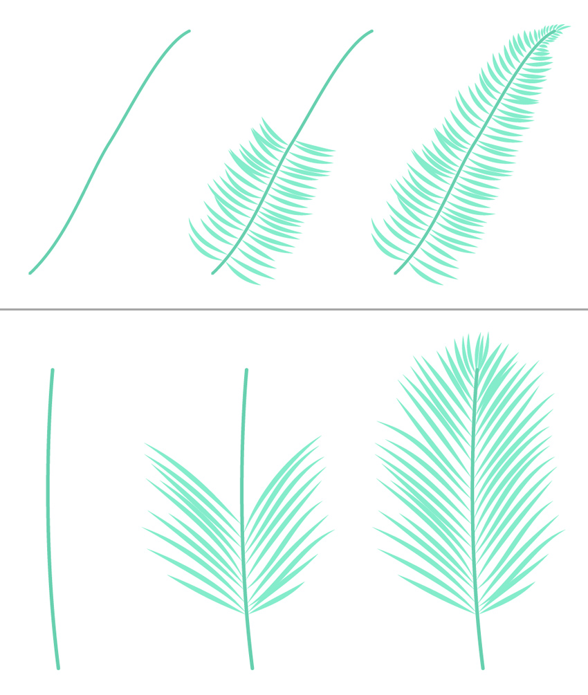 use the Paintbrush Tool to draw leaves