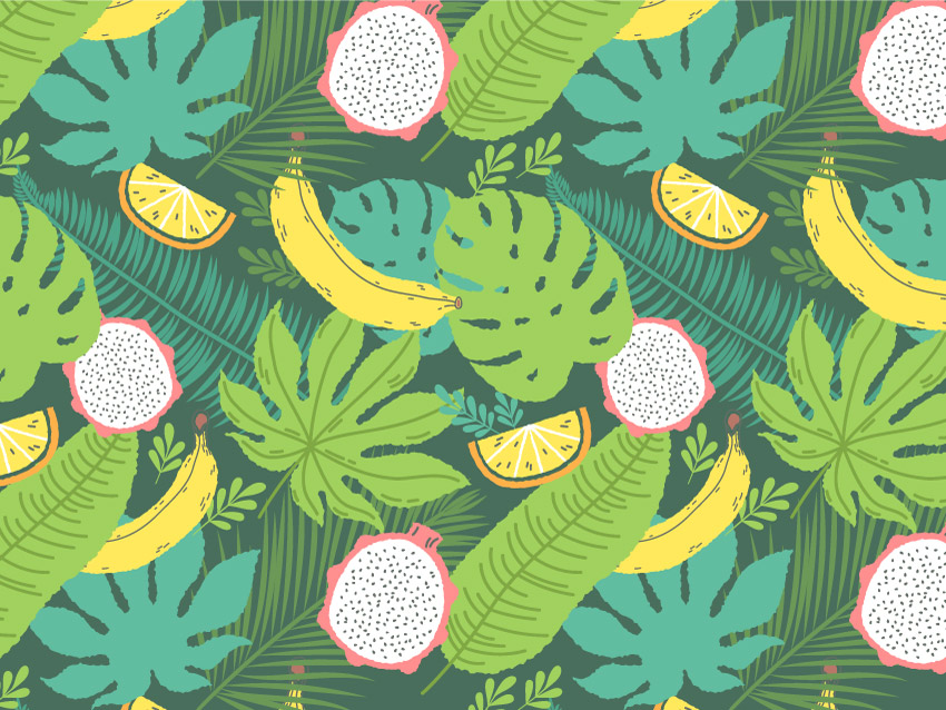 Seamless Tropical Pattern Adobe Illustrator Tutorial