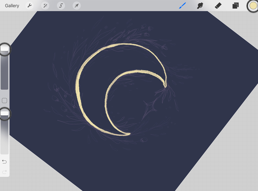 How to Draw a Mystic Moon Illustration in Procreate on iPad