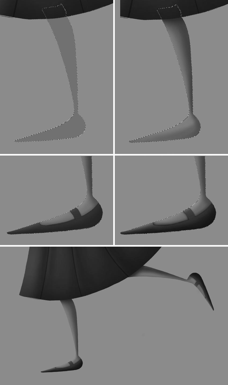 draw the legs