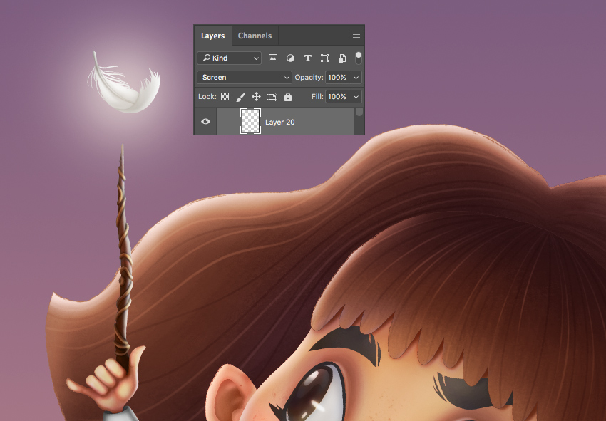 How to Draw Hermione Granger in Adobe Photoshop