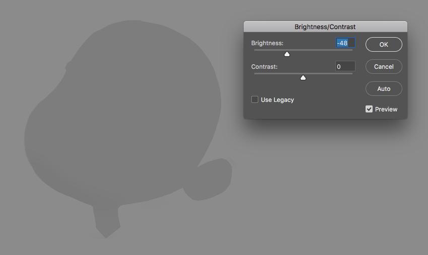 go to Image  Adjustments  BrightnessContrast