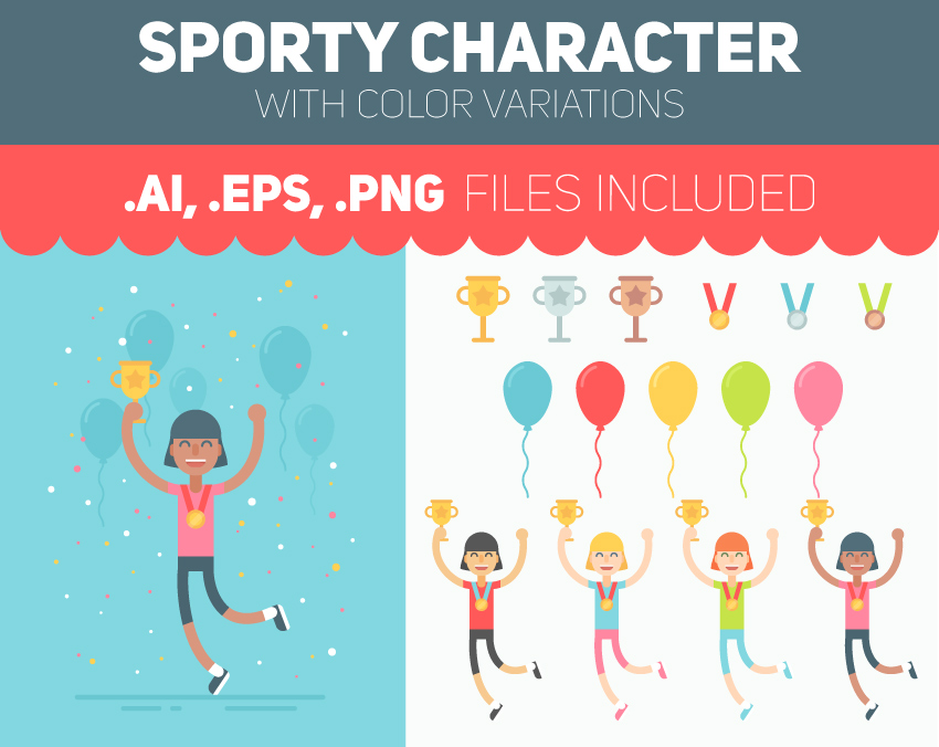 Tutsplus Character Design Download : How to draw a celebrating sporty character in adobe
