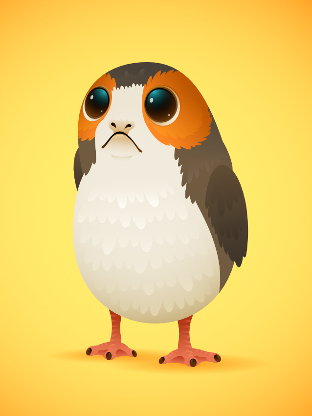 How to Create a Porg From Star Wars in Affinity Designer