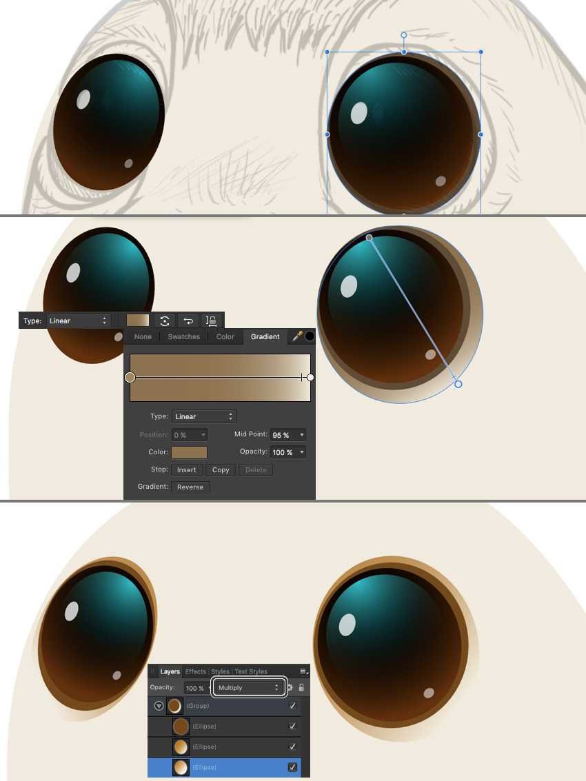 add details to the eyes