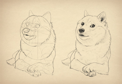 Preview for Such Tutorial, Many Fun: How to Draw Doge!