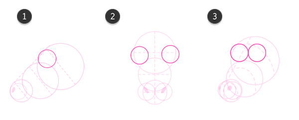 How to draw cow head 3