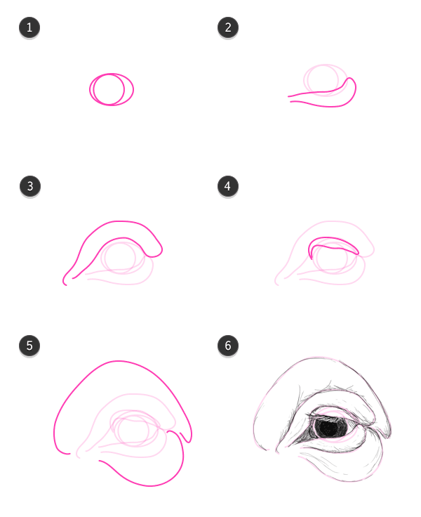 how to draw pig eyes