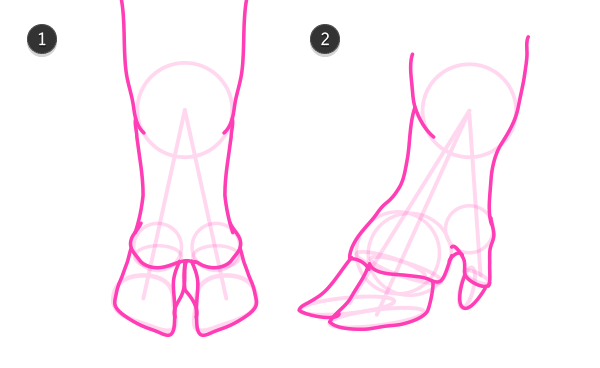 how to draw pig hooves 4