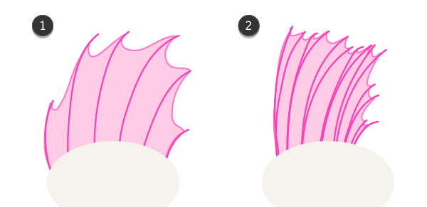 how to draw fish fins 2