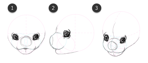 how to draw bat head face 8