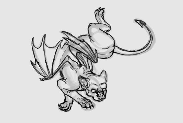 sketch a cat quickly 3