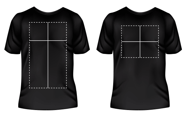 tshirt orientation proportions design print area