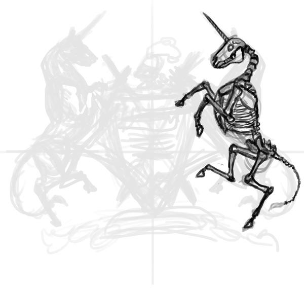 thiết kế áo thun sketch xương lân 1