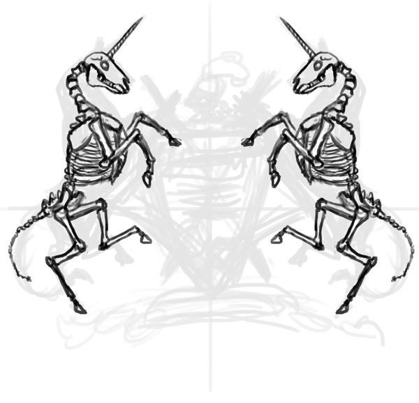 thiết kế áo thun sketch xương lân 2