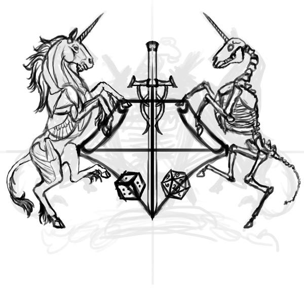 thiết kế áo thun thanh kiếm dices