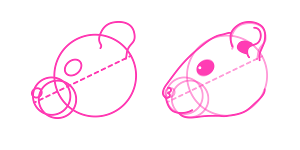rodents how to draw gerbil head