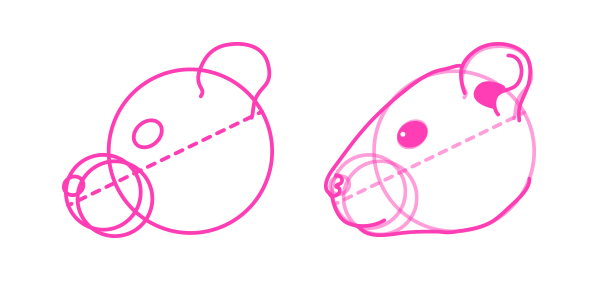 rodents how to draw hamster head