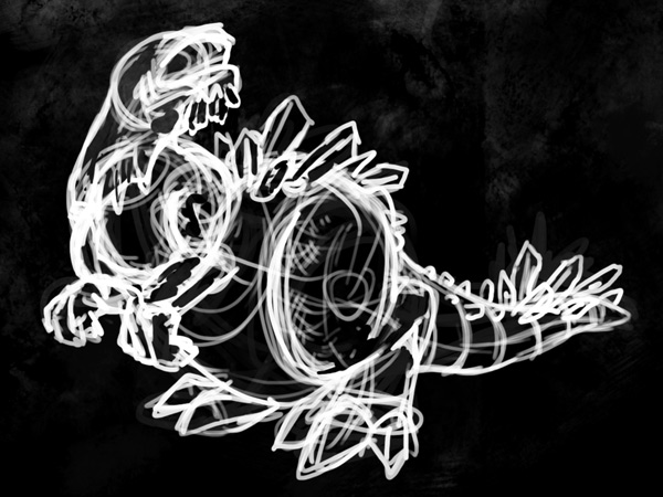 concept art beast sketch