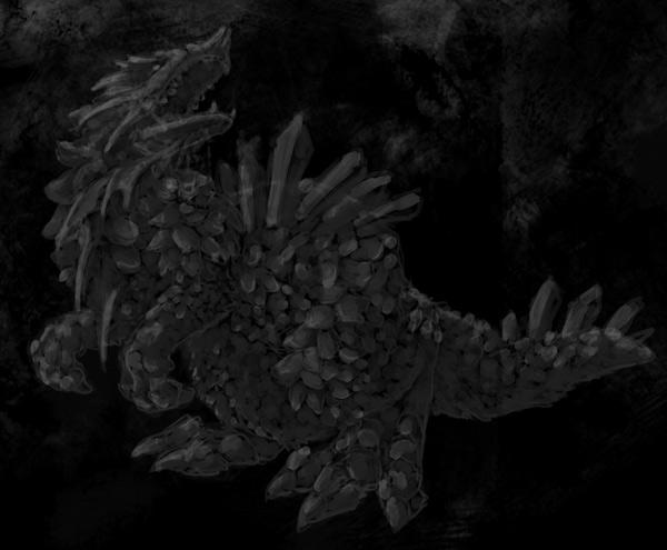 concept art monster blending shadow 2