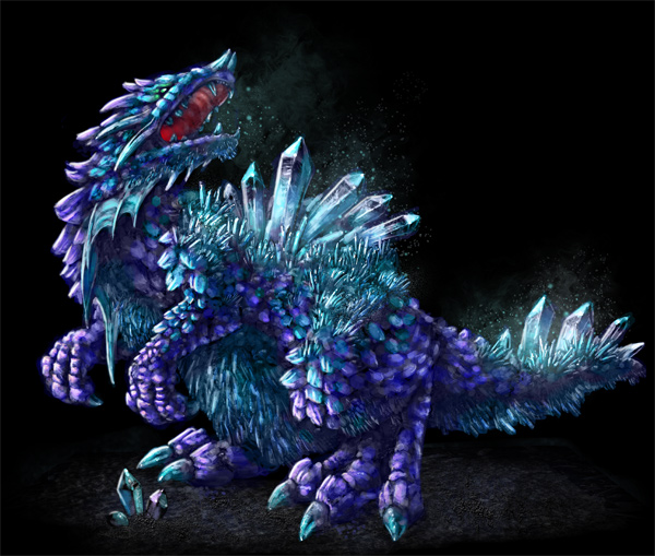 concept art crystal beast monster fast