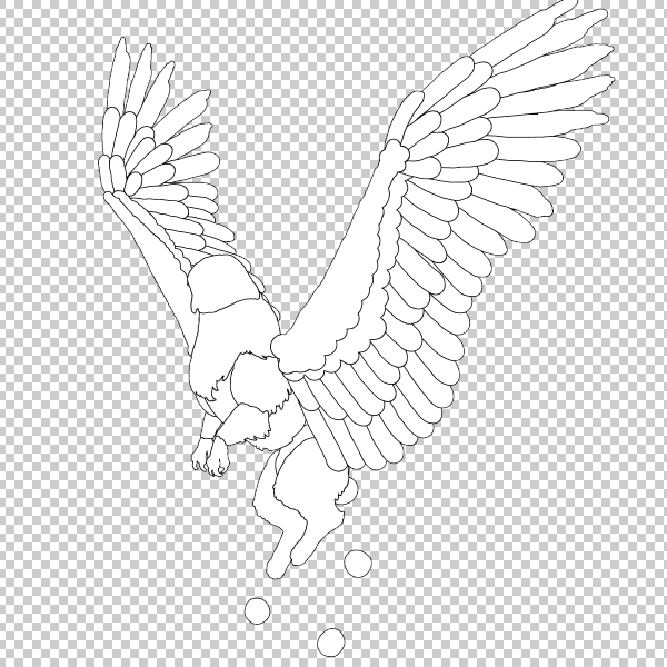 animal animation aéreas griffin asas voadoras desenhar photoshop lineart corpo