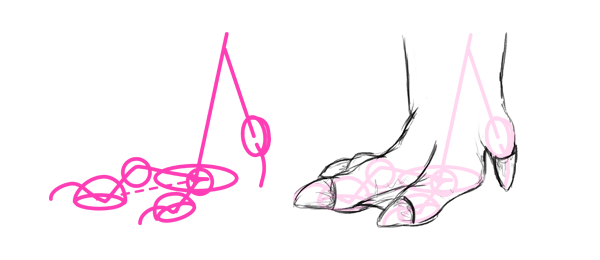 how to draw capybara pwas feet toes
