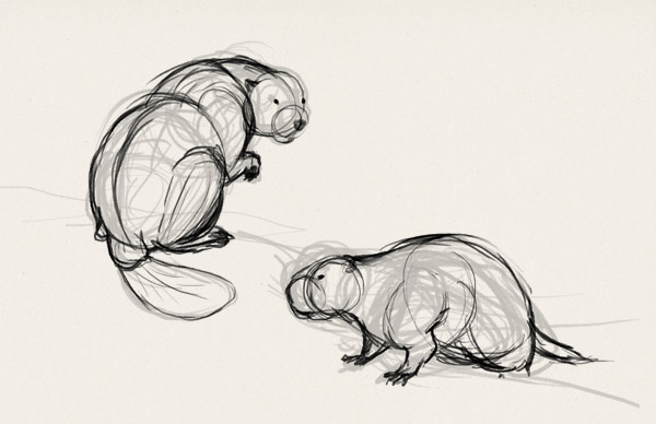 how to draw big rodents exercise 2