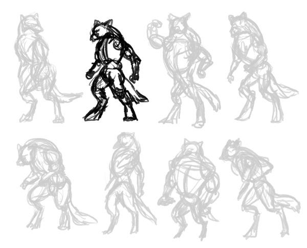 how to draw werewolves study 2