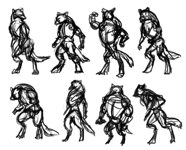 how to draw werewolves study
