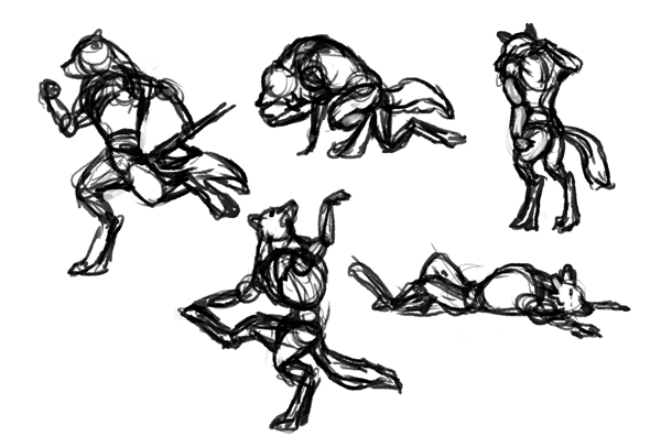 how to draw werewolves study 3