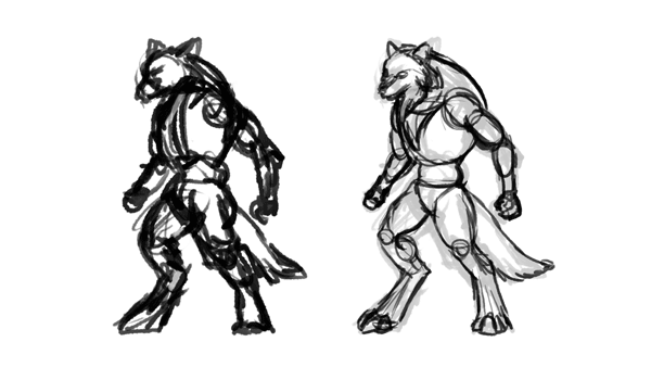 how to draw werewolves choose design