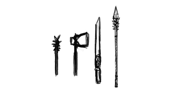 character design drawing weapon