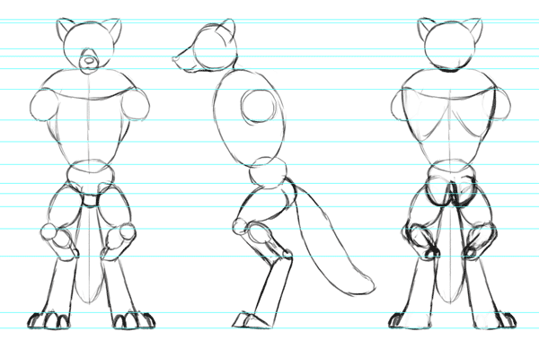 character design model sheet views reference 4