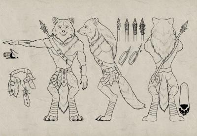 Design werewolf character prev