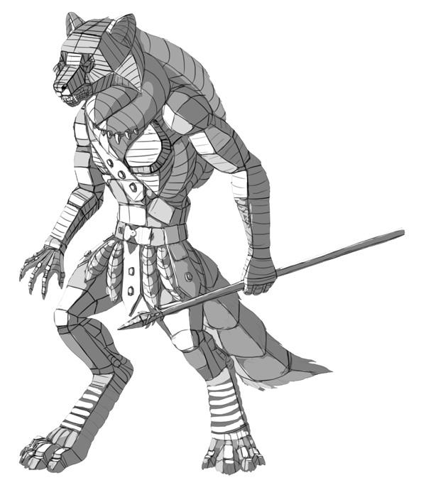 character design concept 3d form 4