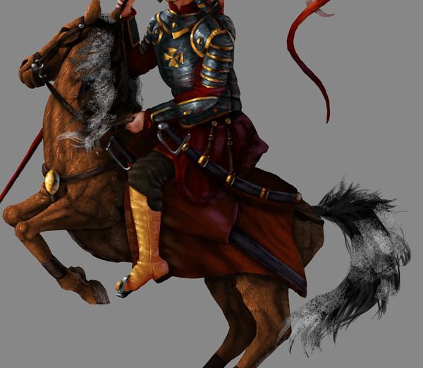 Como pintar cavalo cauda juba photoshop 3