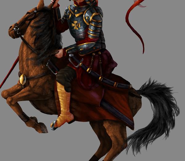 Como pintar cavalo cauda juba photoshop 4