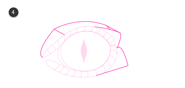 how to draw crocodile eyes 4