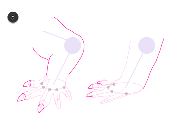 how to draw crocodile paws claws feet 6
