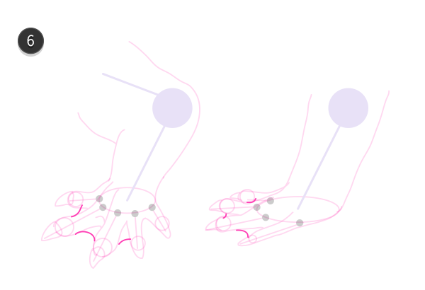 how to draw crocodile paws claws feet 7