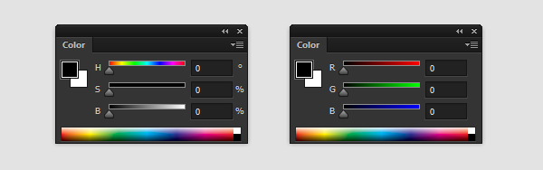color panel photoshop brightness saturation hue value