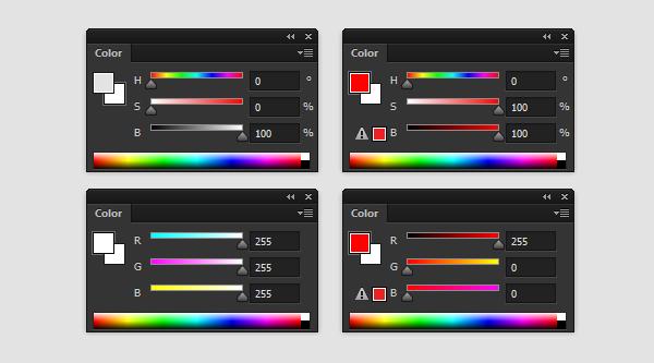 pintura da cor barrenta modo de cor em tons de cinza photoshop 6