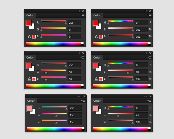 pintura da cor barrenta modo de cor photoshop em tons de cinza brilhante do que 100