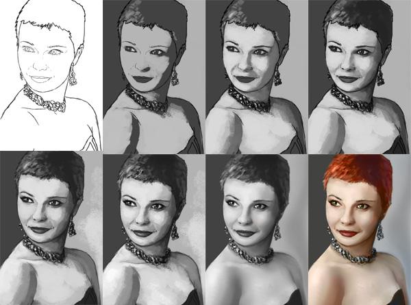 como praticar pintura em tons de cinza valor de referência photoshop 17